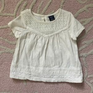 Baby Gap Girls Cotton Top w/Embroidered Detail 2T